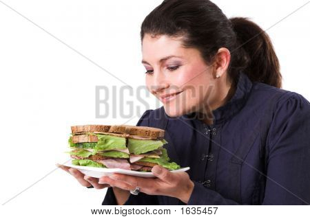 Looking Forward To Her Sandwich