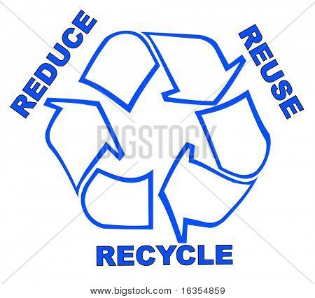recycle symbol with words reduce reuse recycle