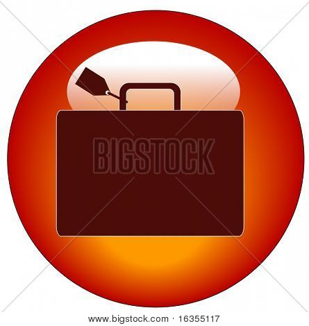 red icon with luggage marked with name tag