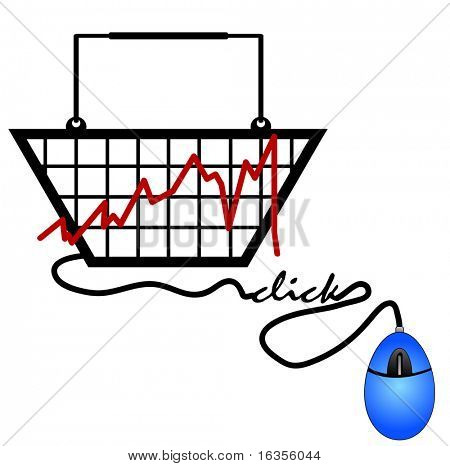 bar graph made out of a shopping basket trends on the internet