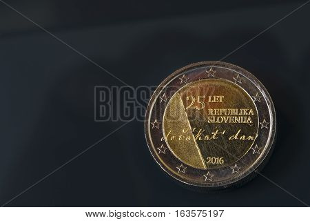 Commemorative 2 Eur Coin Celebrating 25 Years Of Slovenia's Independence