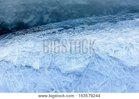 Ice Texture On The River