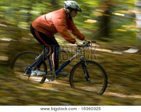 Herbst Bike fahren