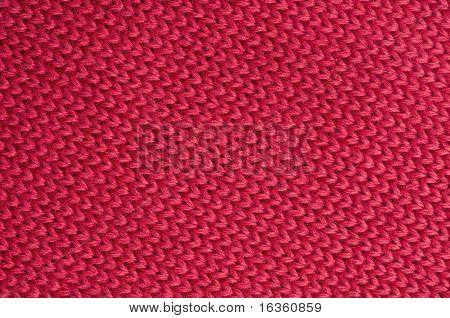 Fondo de lana roja con textura