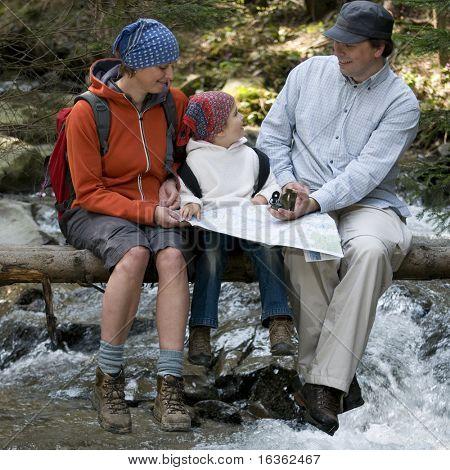 Family trekking
