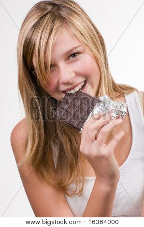 Beauty with chocolate