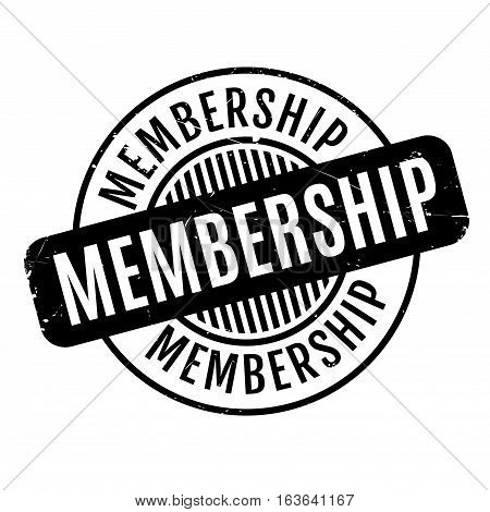 Membership rubber stamp. Grunge design with dust scratches. Effects can be easily removed for a clean, crisp look. Color is easily changed.