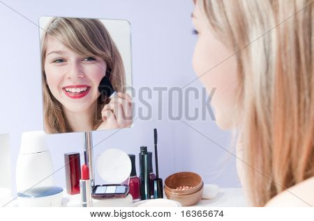 Young girl make-up