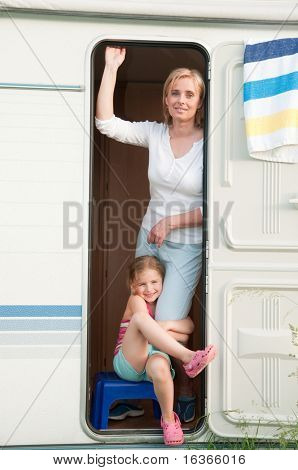Summer vacation in camper