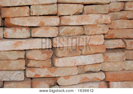 Red Bricks Stockpiled