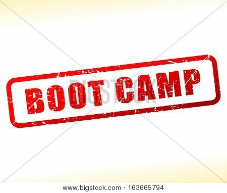Illustration of boot camp text buffered on white background