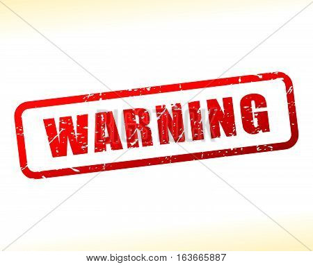 Illustration of warning text buffered on white background