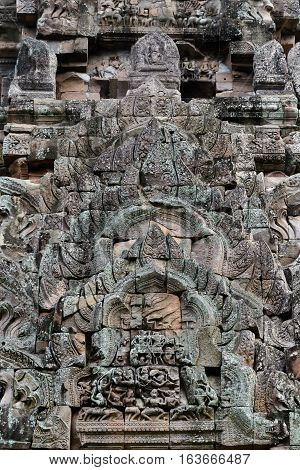 Sandstone castle phanom rung Religious buildings constructed by the ancient Khmer art in Buriram province Thailand.