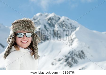 Cute girl on winter vacation