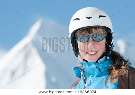 Beautiful young skier