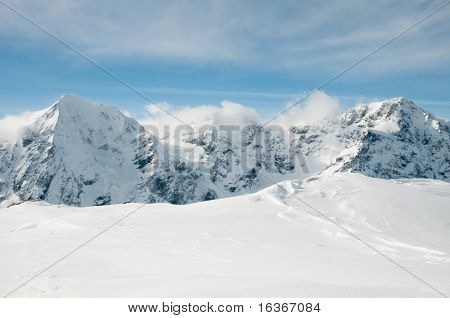 Winter mountains