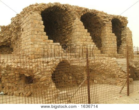Roman Ruins Of Old Acre In Israel