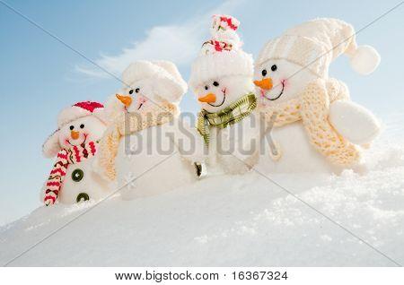 Happy snowman crew