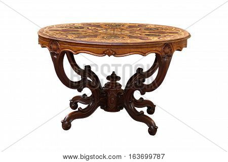 Antique Round Marquetry Table