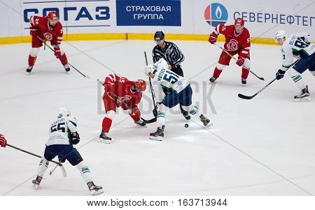 K. Mayorov (51) And R. Horak (15) On Faceoff