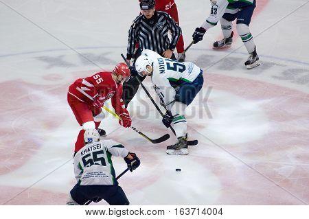 K. Mayorov (51) And M. Aaltonen (55) On Faceoff