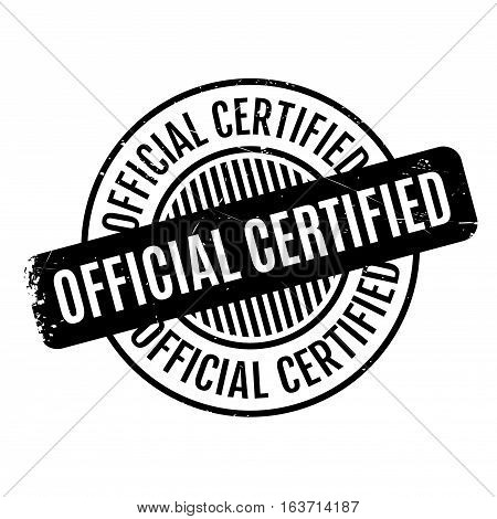 Official Certified rubber stamp. Grunge design with dust scratches. Effects can be easily removed for a clean, crisp look. Color is easily changed.