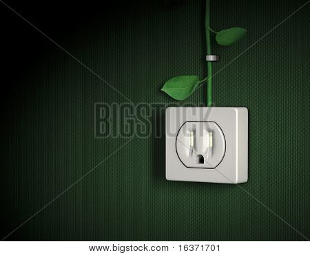 Green energy power outlet 2