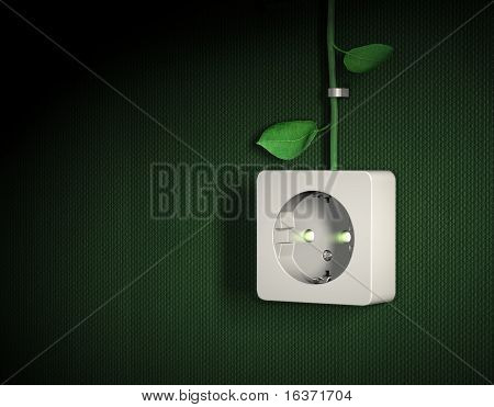 Green energy power outlet