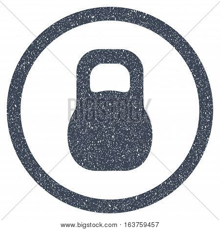 Weight grainy textured icon for overlay watermark stamps. Flat symbol with dirty texture. Dotted vector smooth blue ink rubber seal stamp with grunge design on a white background.