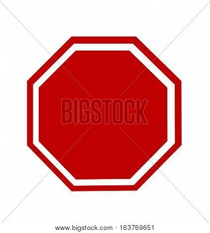 Blank Stop Sign vector illustration on white