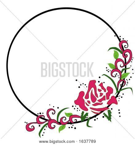 Rose Circle Frame