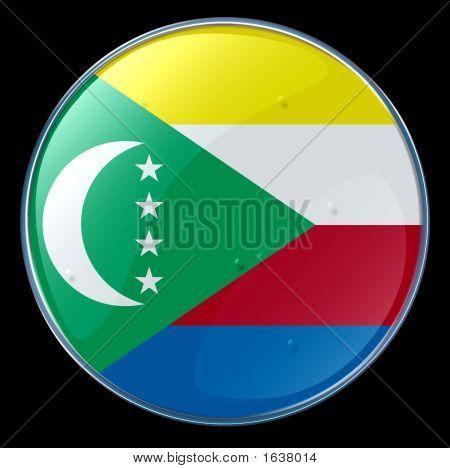 Comoros Flag Button