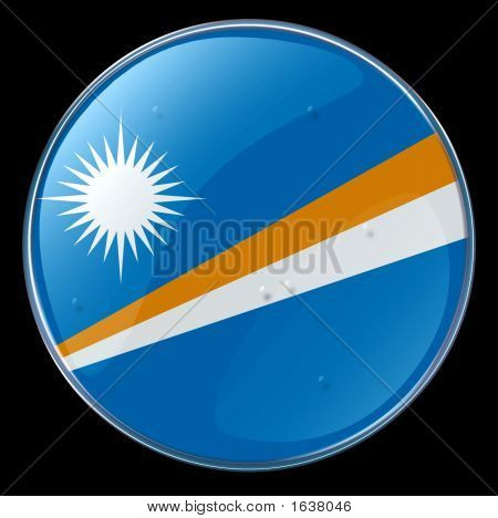 Marshall Islands Flag Button