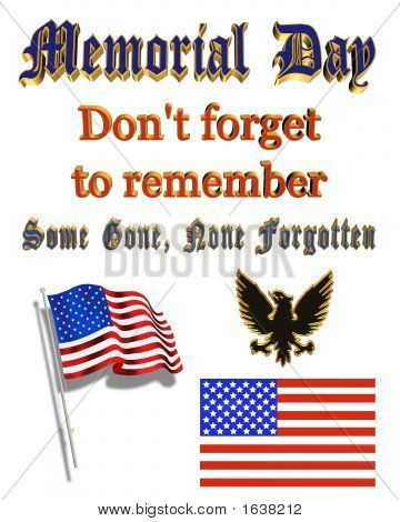 Memorial Day Clip Art And Text