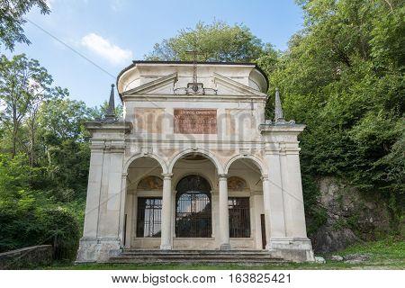 Tenth Chapel At Sacro Monte Di Varese. Italy
