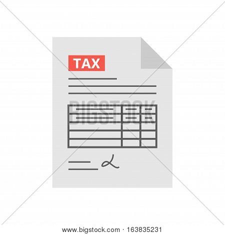 Filling tax form. Payment of taxes concept. Modern concept for web banners, web sites, infographics. Creative flat design vector illustration
