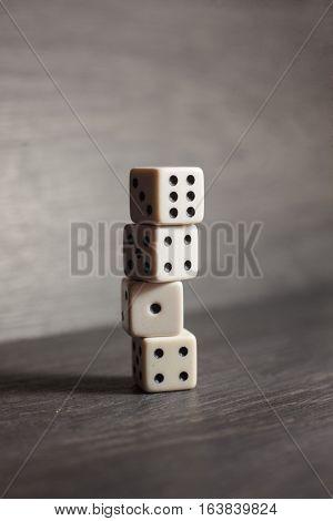 dice for games, fortune, white, leisure, fun, dice, casino, game
