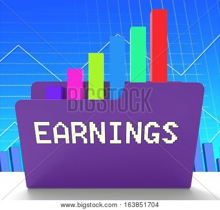 Earnings Chart Meaning Business Graph 3D Rendering