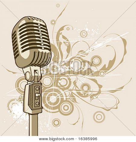Vektor Jahrgang Mikrofon