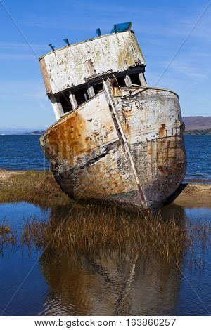 Point Reyes Ship Wreck on coast in Inverness, CA