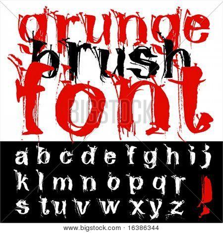 Hand zeichnen Grunge Pinsel Schriftarten
