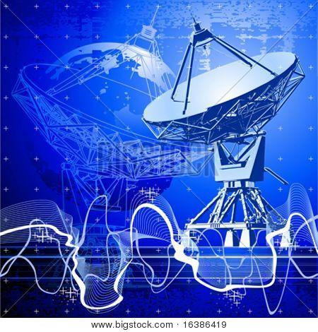 antena de pratos de satélite (radar doppler)