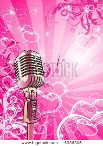 Pink valentines microphone