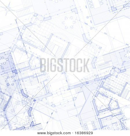 Vector abstrakt Architektur Background: Haus-Plan