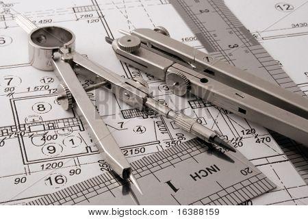 instrumentos de dibujo & dibujo de arquitectura