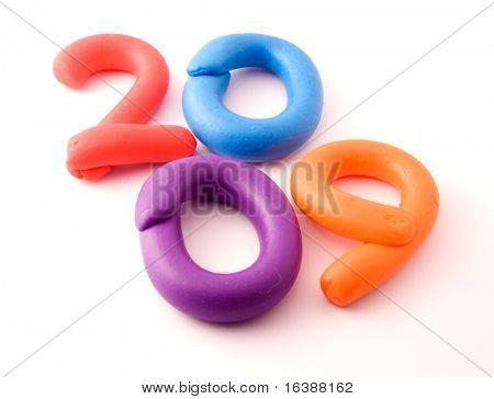 Colour plasticine figure  - 2009 See all letters in my portfolio