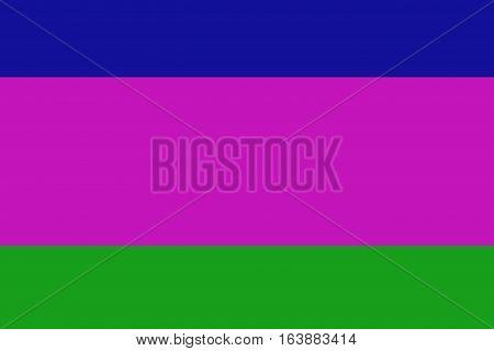 Kuban People's Republic flag illustration symbol. .