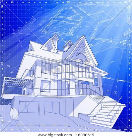 Casa 3D: empate técnico vector