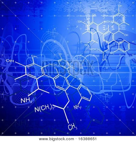 technology background: chemical formulas