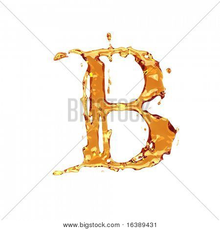 Liquid alcohol alphabet  - letter B - color of brandy , cognac, liquor, cola, beer or tea